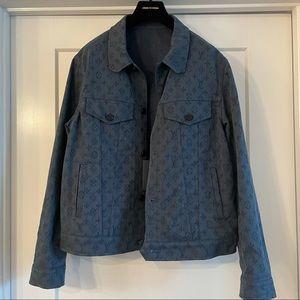 NWT Louis Vuitton monogram denim jacket 50